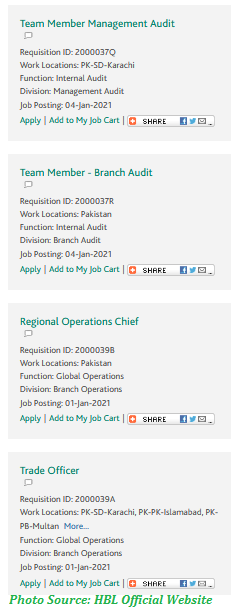 HBL Jobs January 2021 - Latest Jobs in Habib Bank Limited January 2021 Apply Online