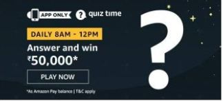 Amazon Daily Quiz Answers Today 6 August 2020 | Win Rs.50000 Amazon Pay Balance