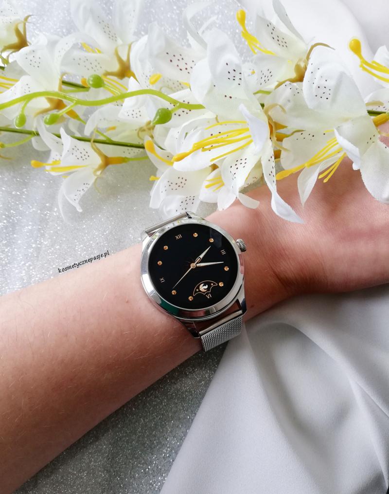garett naomi pro srebrny smartwatch