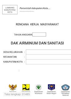Contoh Rencana Kerja Masyarakat ( RKM )