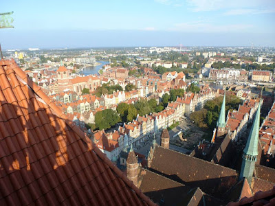 View of the city of Gdańsk from St. Mary's Church at 82m
