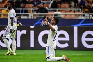 انتصار ريال مدريد القاتل على إنتر ميلان في دوري أبطال أوروبا