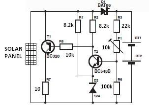 Solar Charger Circuit Diagram on typical home wiring light circuit