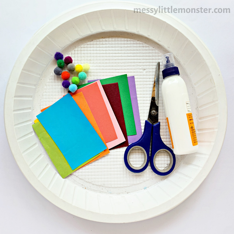paper plate craft supplies
