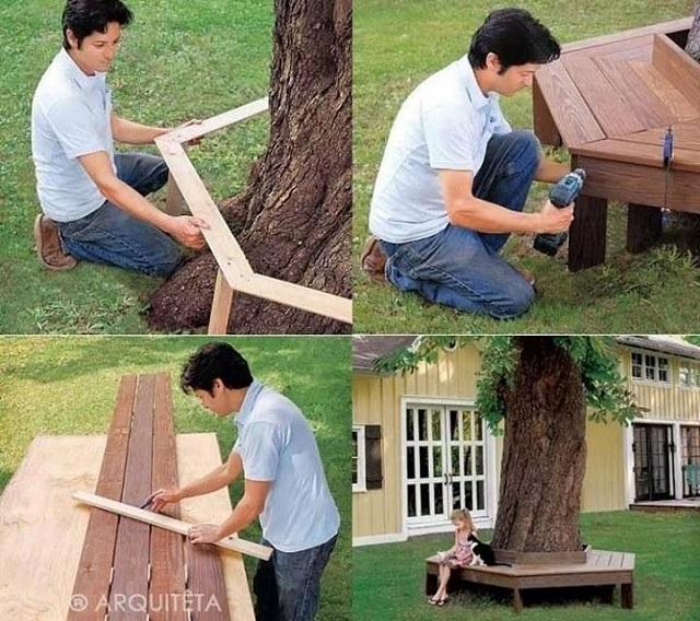 แบบที่นั่งใต้ต้นไม้