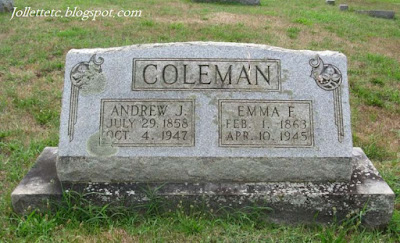 Tombstone Emma Jollett and Jack Coleman https://jollettetc.blogspot.com