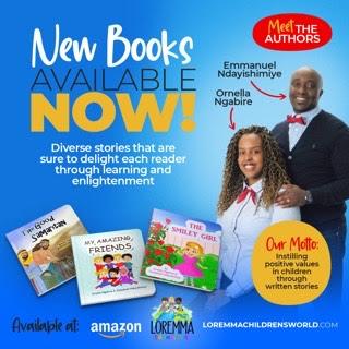 Emmanuel Ndayishimiye and Ornella Ngabire, authors of The Smiley Girl