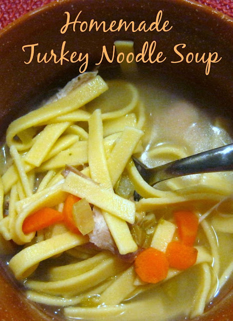 Here's a tasty way to use turkey leftovers, my homemade turkey noodle soup recipe.