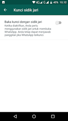 Download WhatsApp With FingerPrint Lock Versi 2.19.221 Beta for Android Terbaru (Kunci Sidik Jari)