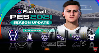 Download PES 2021 PPSSPP Special Paulo Dybala Juventus F.C Graphics Real Faces CV3 & Full Transfer