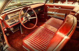 1966 Lincoln Continental Luxury Coupe Steering Wheel & Interior