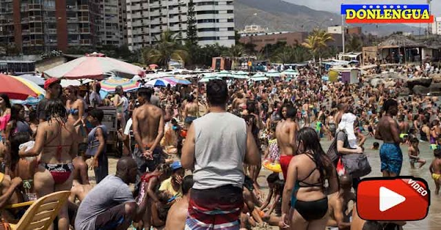 Miles de venezolanos desafían al Virus Chino en las playas del país