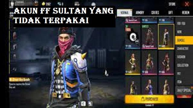 Akun FF Sultan Yang Tidak Terpakai