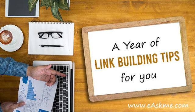 A Year of Link Building Tips: eAskme