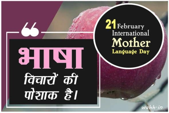 Best International Mother Language Day Thoughts In Hindi
