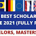 Best  European Scholarships for Bachelor, Masters, PhD degree programs