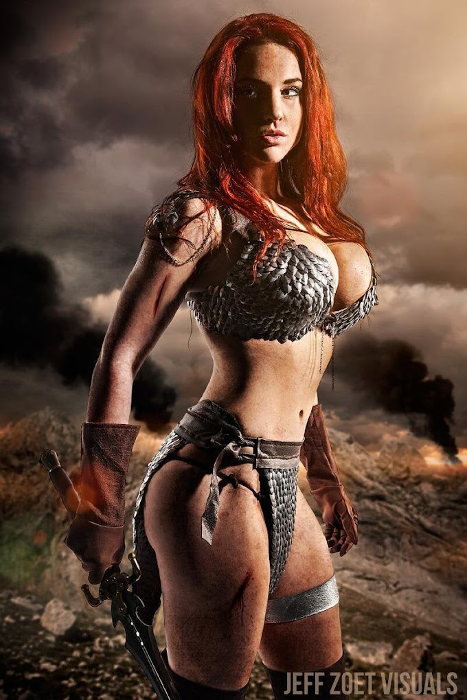 Claire Ana con su cosplay de Red Sonja