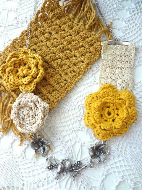 Birds & Flowers Necklace