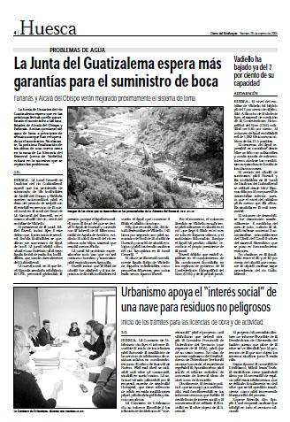 Fañanás y Alcalá del Obispo verán mejorado próximamente el sistema de toma