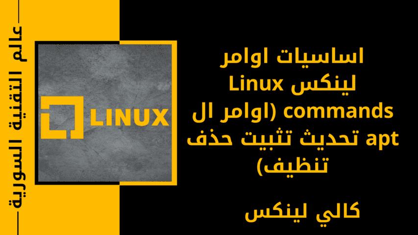 اساسيات اوامر لينكس Linux commands (اوامر ال apt تحديث تثبيت حذف تنظيف)