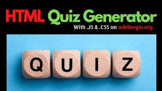 HTML-Quiz-Generator