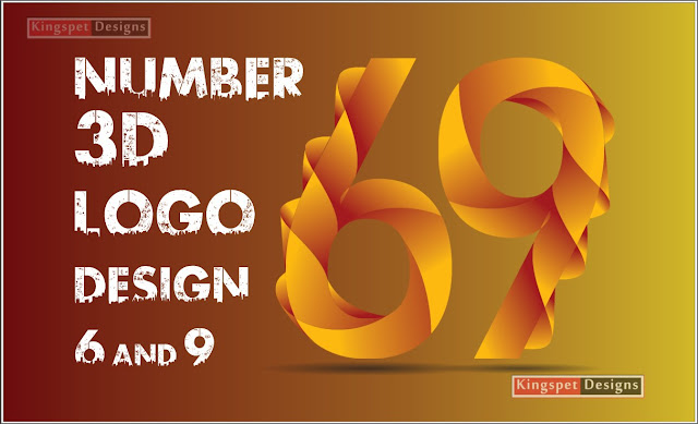 CorelDRAW 3D Number Logo Design 6 and 9   - KingspetDesigns