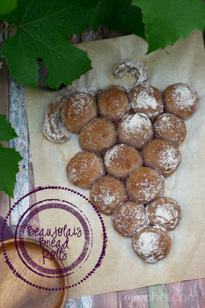 Beaujolais Bread Rolls | #BreadBakingBabes