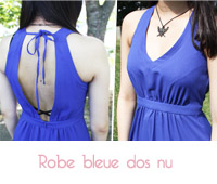Robe bleue roi La Redoute