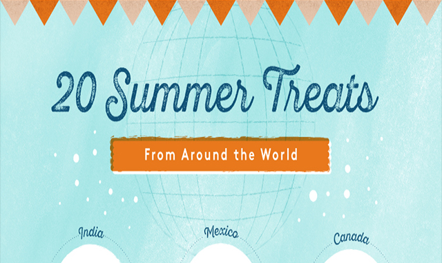 Twenty summer treatments all over the globe #infographic