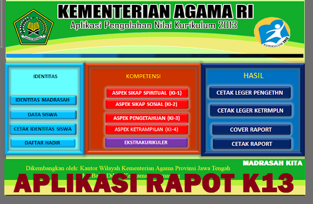 aplikasi rapot k13 depag