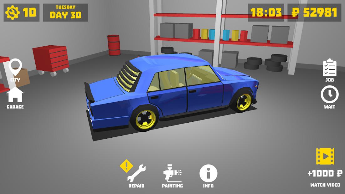 Retro Garage Car Mechanic Simulator Hileli APK - Sınırsız Para Hileli APK