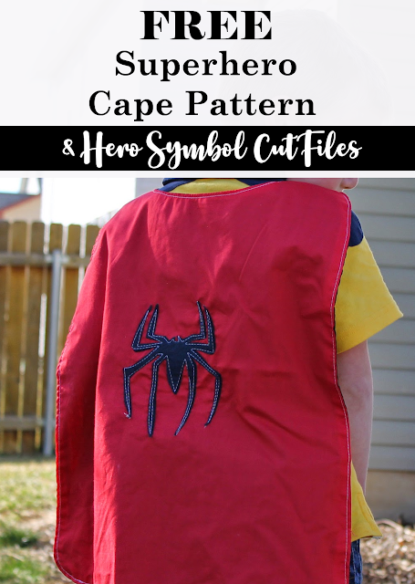 Grab this easy superhero cape pattern and dress up like all your favorite heroes.