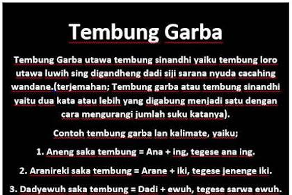 Tembung Garba Dalam Bahasa Jawa dan Contohnya