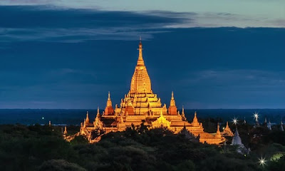 Buddhist Temple of Bagan in Myanmar