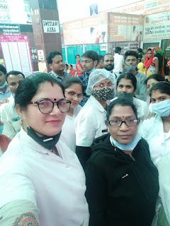 18 सूत्रीय मांगों के समर्थन में राज्य कर्मचारियों ने किया प्रदर्शन | #NayaSaberaNetwork