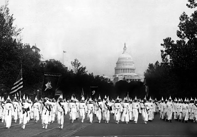 A Ku Klux Klan parade in Washington, D.C., in 1926