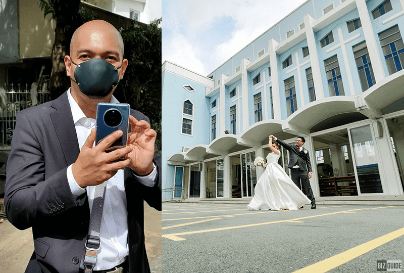 Top Filipino photographer Carlo Acetre used the Huawei Mate 40 Pro for the BTS of our wedding