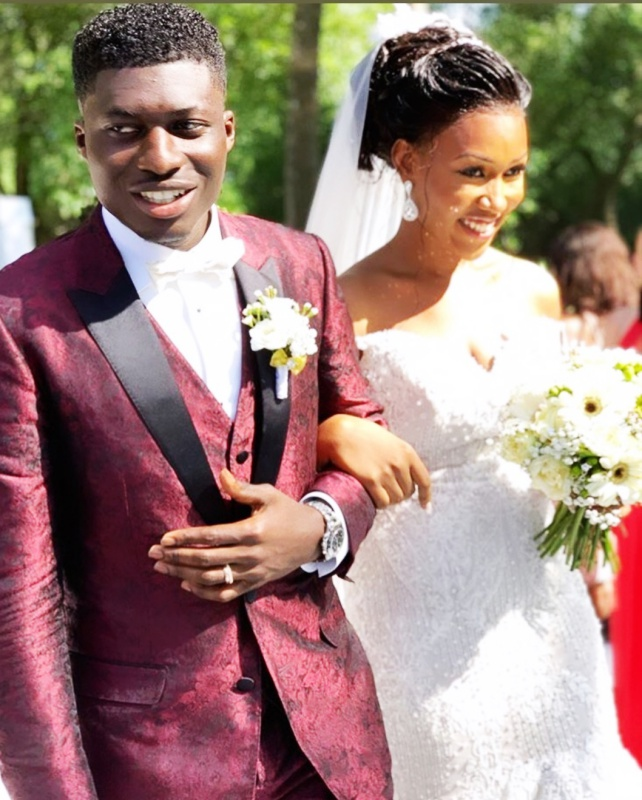 Photos from Ghanaian midfielder, Alfred Duncan and Rosa's wedding