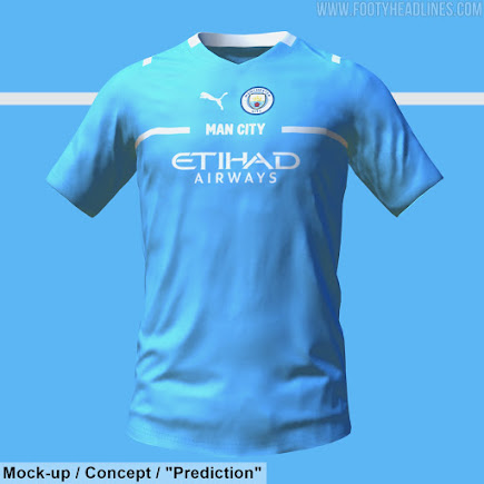 Puma Manchester City 21 22 Home Kit To Look Like This Footy Headlines