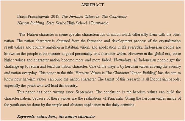 Contoh Abstrak Skripsi Dalam Bahasa Inggris