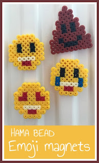 Hama bead Emoji magnets tutorial