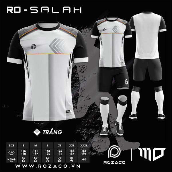 Áo Không Logo Rozaco RO-SALAH Màu Trắng