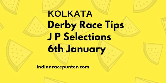Kolkata-Derbyday-Race-Tips 6th January, India Race Com, Indiaracecom.