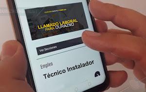 Importante llamado laboral para Durazno: empresa busca Técnico Instalador