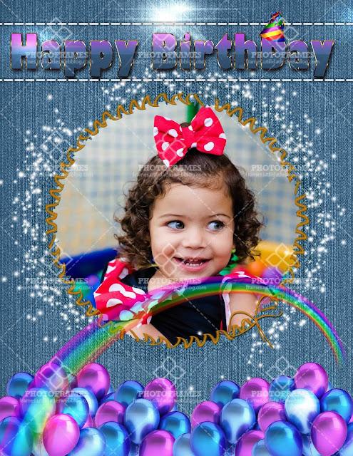 Marco para fotos de cumpleaños color azul