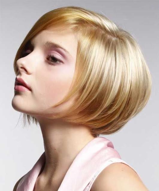 Potongan rambut wanita wajah bulat