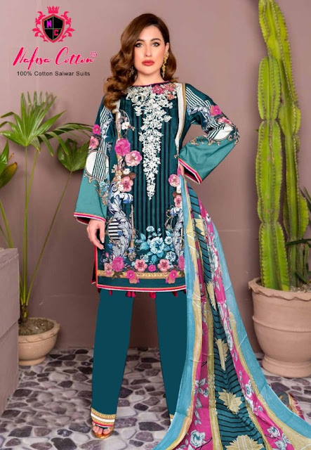 Nafisa Sahil vol 4 pakistani Cotton dress material catalog