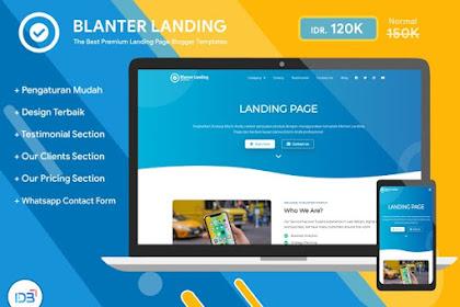 Blanter Landingpage Premium Blogger Template