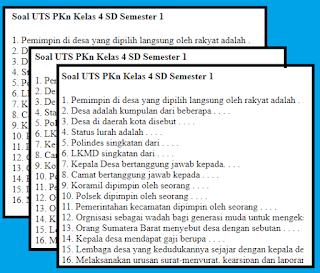 soal-uts-pkn-kelas-4-semester-1-terbaru