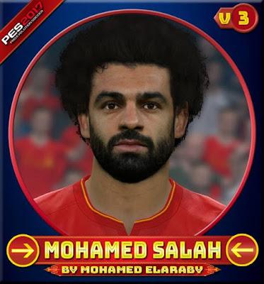 PES 2017 Mohamed Salah Face (Liverpool) V3 by Mohamed Elaraby